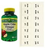 Spring Valley Apple Cider Vinegar 450 mg (100 Capsules) + AM/PM Weekly Pill Organizer