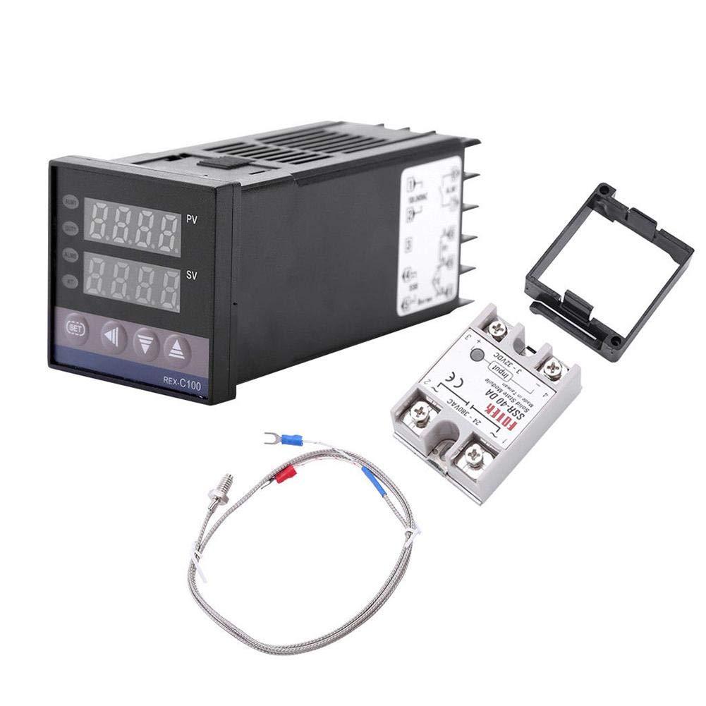 Jocestyle Intelligent Temperature Controller K-type Probe Sensor AC110V-240V REX-C100