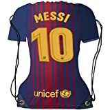 Lionel Messi Jersey Drawstring Backpack ✓ Premium Unique School Bag ✓ Perfect Gift for Messi Soccer