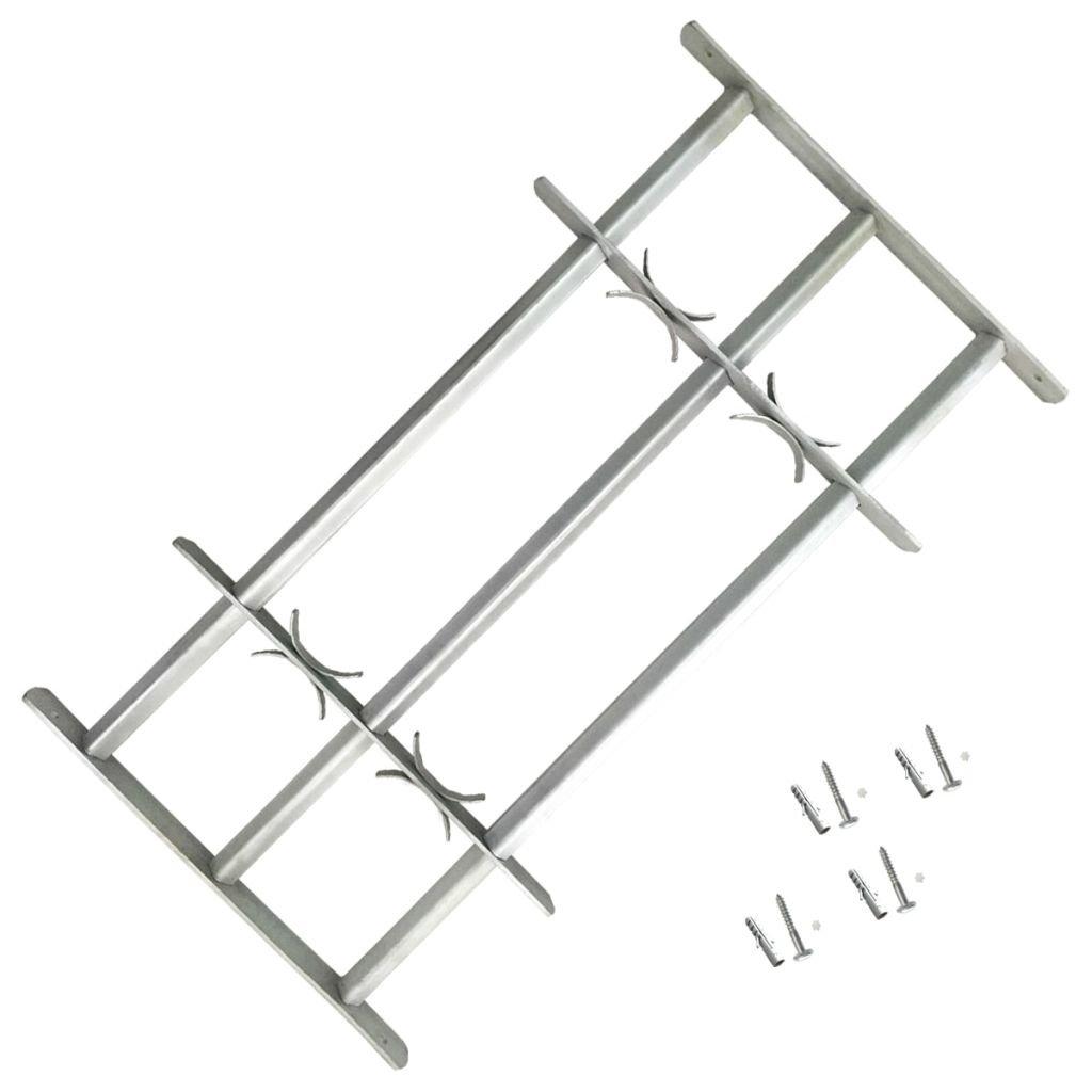 vidaXL Reja de seguridad ajustable tres travesañ os para ventanas, 500-650 mm