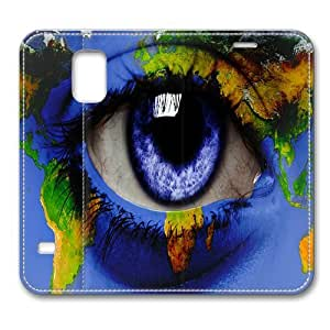 Leather Samsung Galaxy S5 Case, World-eye Slim Leather Flip Case Cover for Samsung Galaxy S5/ S V/ I9600 with Stand Feature Auto Wake Up / Sleep, Original Design And Made By PhilipHayes