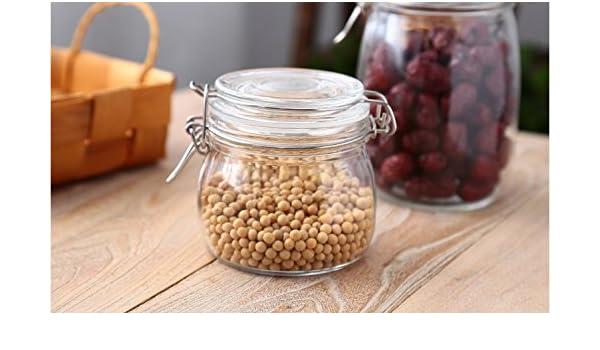 ... del tanque de vidrio Contenedor de almacenamiento de té perfumado jarra de cristal olla dulce de granos gruesos,9*11cm depósito: Amazon.es: Hogar
