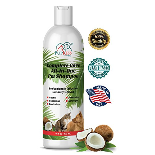 Anti Itch Plant Shampoo (Professional All-in-One Natural Dog Shampoo for Healthy Skin & Coat, Plant Based Pet Shampoo For Dogs & Cats with Sensitive Skin. Cleaner, Deodorizer, Moisturizer, Conditioner & Detangler-Made in USA)