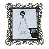 Gift Garden 8x10 Vintage Picture Frame Hollow up Metal Frames for 8 by10 inch Photo