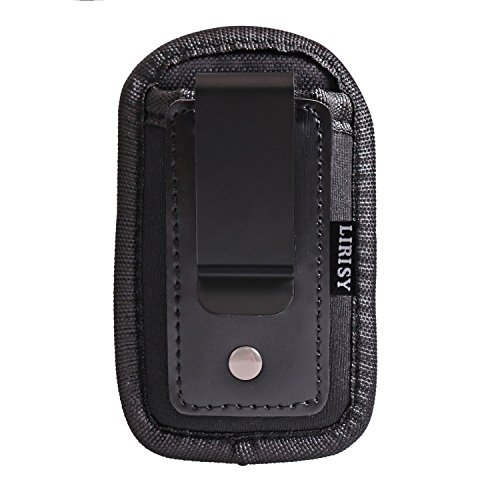 380 Handgun Ammunition (Lirisy Tactical Single Pistol Mag Pouch | Inside The Waistband IWBMag Holder | Single and Double Stack Magazine Holster for 9mm/.40 cal/380)