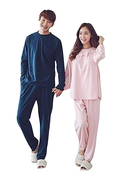 SaiDeng Parejas Encantador Pijama Bata De Noche Conjuntos Como Imagen Hombres XXL