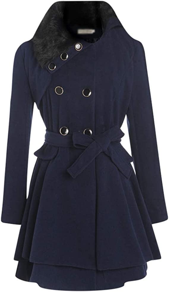 manteau ceintrée femme laine