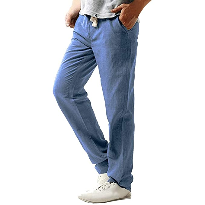 71f735957 Chándal de Hombres JiaMeng Moda Pantalones de chándal de Hombre Pantalones  Casual Slim Beach Pantalones Pantalones