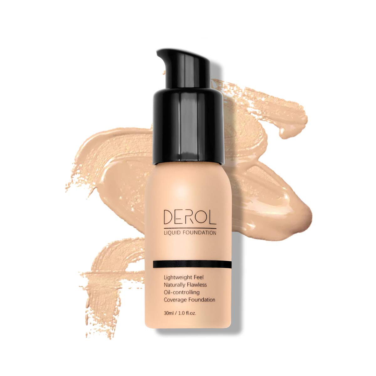 DAGEDA Soft Full Coverage Concealer Liquid Foundation Brightening Moisturizing Oil Control Waterproof Liquid Foundation Cream for Any Skin Color, Age And Sex 30ml(#01 WHIPPED CREAM)