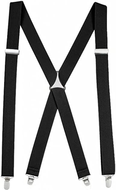 Suspenders Strong Heavy Duty with Adjustable Y Shaped Clips AINOW Men Women Unisex Trouser Braces