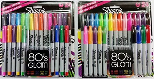 Sharpie Fine Point/Ultra Fine Permanent Marker Assorted Colors 24-Fine & 24-Ultra Fine (Total of 48) ()
