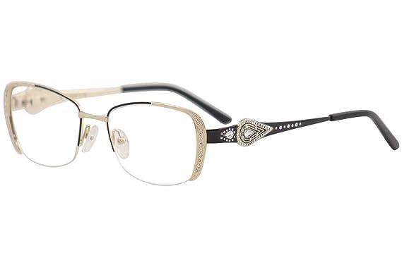 ba62a3ddf4a5 Amazon.com  Caviar Eyeglasses M2620 M 2620 C24 Gold Black Half Rim ...