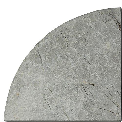 Polished Corners - Silver Polished Marble Corner Shelf 9
