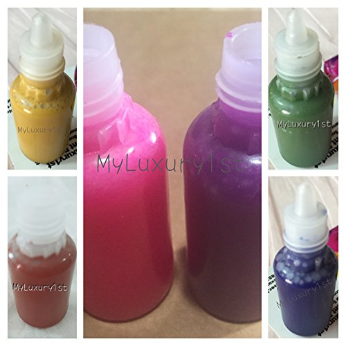 5ml Lot of 6 Melt & Pour Liquid Colorants for Soap Making DIY Mustard Yellow, Burnt Orange, Neon Pink, Purple Plum, Green, and Blue 5 Ml Samples Each