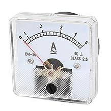 AC DC 0-5A 5A Analog Ammeter Analogue Ampmeter Current Meter Gauge