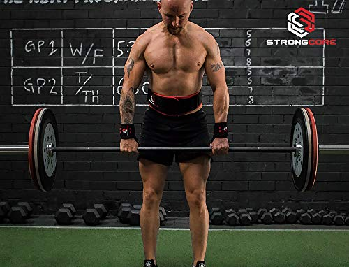 STRONGCORE Weightlifting Belt - with Free Bonus Training Chart