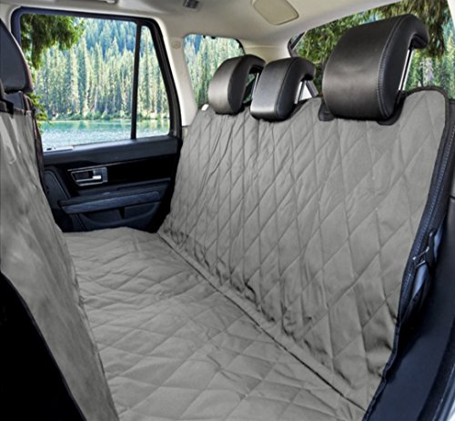 Grey   Waterproof Pet Car Seat Cover For Dogs   Universal Fit For Most Cars Trucks And Suvs