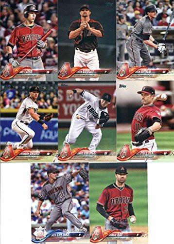 2018 Topps Complete (Series 1, 2, Update) Arizona Diamondbacks Team Set of 33 Cards in a 4-Pocket Notebook: Robbie Ray(#17), Chris Owings(#122), Brandon Drury(#141), Zack Greinke(#146), Jimmie Sherfy(#174), A.J. Pollock(#216), Anthony Banda(#247), Jake Lamb(#248), J.D. Martinez(#257), Zack Godley(#295), David Peralta(#319), Nick Ahmed(#337), Taijuan Walker(#360), Shelby Miller(#425), Jeff Mathis(#474), Daniel Descalso(#479), Jarrod Dyson(#490), Zack Greinke(#507), plus more