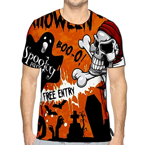 Randell T-Shirt 3D Printed Halloween Holiday Party Or and Flyer Template Design of -