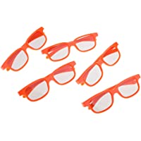 MagiDeal 5 Pairs of Kids Universal Passive 3D Glasses for All Passive 3D TVs Cinema and Projectors Such as for RealD Toshiba Panasonic Sony TVs Monitor Orange