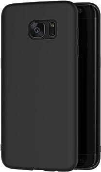 AICEK Funda Samsung Galaxy S7 Edge, Negro Silicona Fundas para Samsung S7 Edge Carcasa Galaxy S7 Edge Negro Silicona Funda Case (5.5