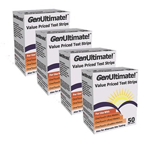 Genultimate Blood Glucose Test Strips for Use with One Touch