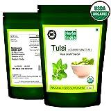 Tulsi Holy Basil Tender Leaves Powder - Ocimum sanctum - 100% USDA Certified Organic - Herbs India (Pack of 1 X 1 Pound)