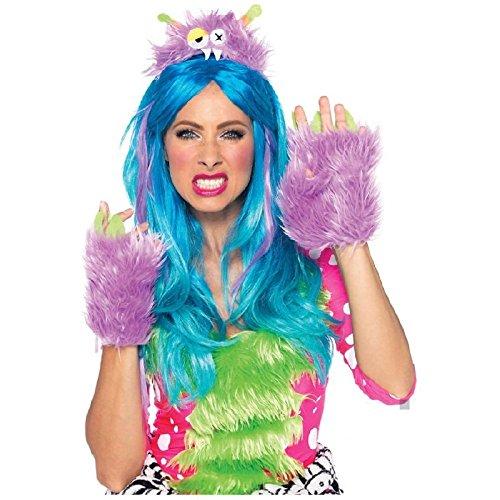 Hairy Herbert Monster Kit Adult Teen Purple Plush Furry Rave Halloween Costume