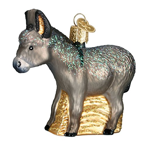 Old World Christmas Donkey Glass Blown Ornament