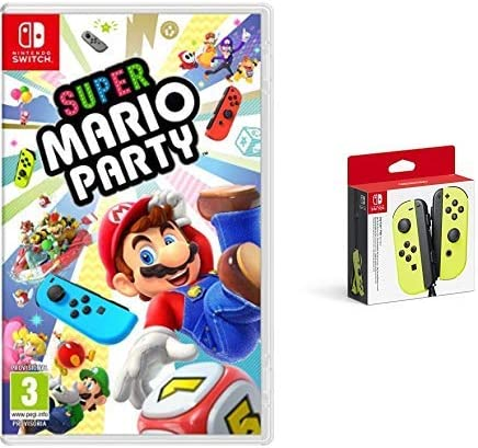 Super Mario Party (Nintendo Switch) & Nintendo - Set De Dos Mandos Joy-Con Izquierda Y Derecha, Color Amarillo Neón (Nintendo Switch): Amazon.es: Videojuegos