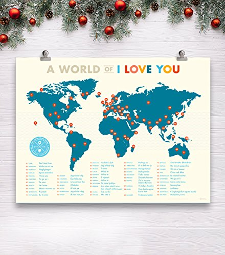 A World of I Love You Poster by Curious Charts (Image #4)'