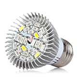 LSHCX E27 10W Full Spectrum LED Grow Light Bulbs for Greenhouse, Indoor Plants and Hydroponic Plant Lighting Bulbs