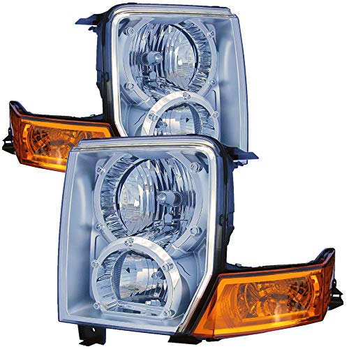 For 2006 2007 2008 2009 2010 Jeep Commander Headlight Headlamp Driver Left and Passenger Right Side Pair Set Replacement CH2518117 CH2519117