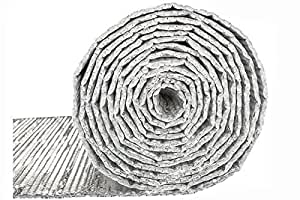 Double Bubble Reflective Foil Insulation 4 X 50 Ft Roll Industrial Strength Commercial Grade Heat Barrier Mat Thermal Insulation For