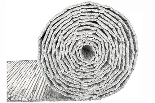 Double Bubble Reflective Foil Insulation: (4 X 50 Ft Roll) Industrial Strength Radiant Barrier, Thermal Insulation for Weatherproofing Garages, Attics, Sheds, RV Windows, More!]()