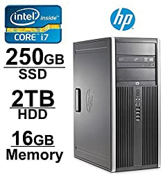 HP 8200 Small Form Factor High Performance Premium Business Desktop (Intel Quad-Core i7-2600 up to 3.8 GHz, 16GB RAM, 2TB HDD, DVD, Wifi, Windows 7 Professional 64Bit) (Certified Refurbished)