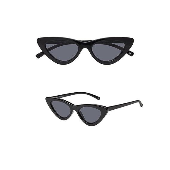 5ac0e2b19b New Energy © Gafas de Sol para Mujer Negro Lolita Retro Ojos de Gato Cat Eye  - Funda Gratis: Amazon.es: Ropa y accesorios