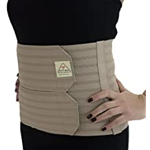 ITA-MED Post-Partum Abdominal Support Binder for Women (w/Breathable Elastic): AB-309(W) X-Large, Beige