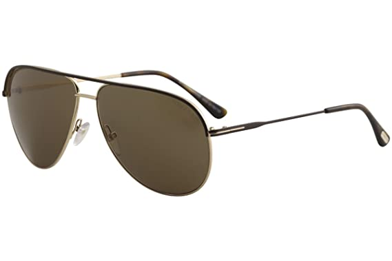 fa81d210f2 Tom Ford 466 50J Gold   Brown Erin Aviator Sunglasses Size 61mm at ...