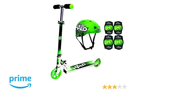 Amazon.com: Halo Rise Above Inline Scooter Combo Set (Green ...