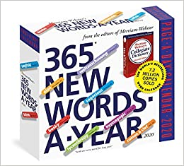 New Words 2020 Amazon.com: 365 New Words A Year Page A Day Calendar 2020