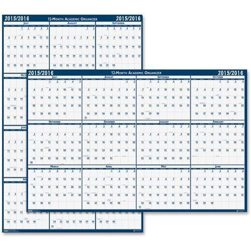 395 House of Doolittle Reversible Academic Wall Calendar - Monthly - 24