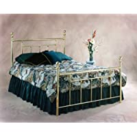 Hillsdale Furniture 1036HFR Chelsea Headboard with Frame, Full, Classic Brass