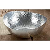"14"" Hammered Oblong Aluminum Bowl by KINDWER"