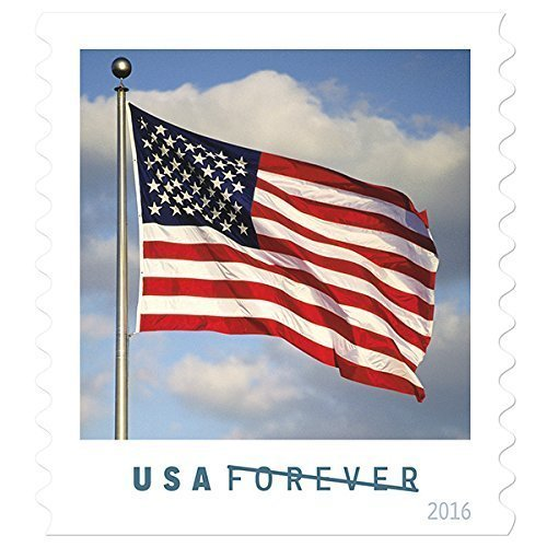 US Flag USPS Forever Stamps Book of 20 - 2016 New - 2 Us Year