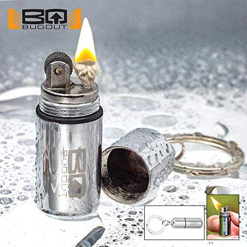 (K EXCLUSIVE BugOut Water-Resistant Micro Lighter On Keyring - Stainless Steel Construction, Screw Top with O-Ring Seal, Fluid Not Included)