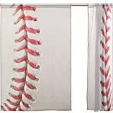 SEULIFE Window Sheer Curtain Sport Ball Baseball