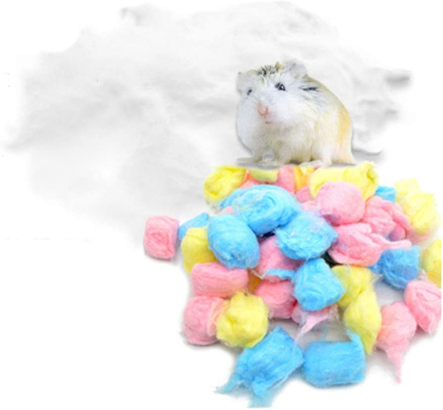 Oncpcare Warm Carefresh Bedding in Cotton, Cotton Balls Filler Hamster House, Eliminate Loneliness Enhance Sense Security Small Animals Hibernation Like Hamster, Mice, Chinchilla