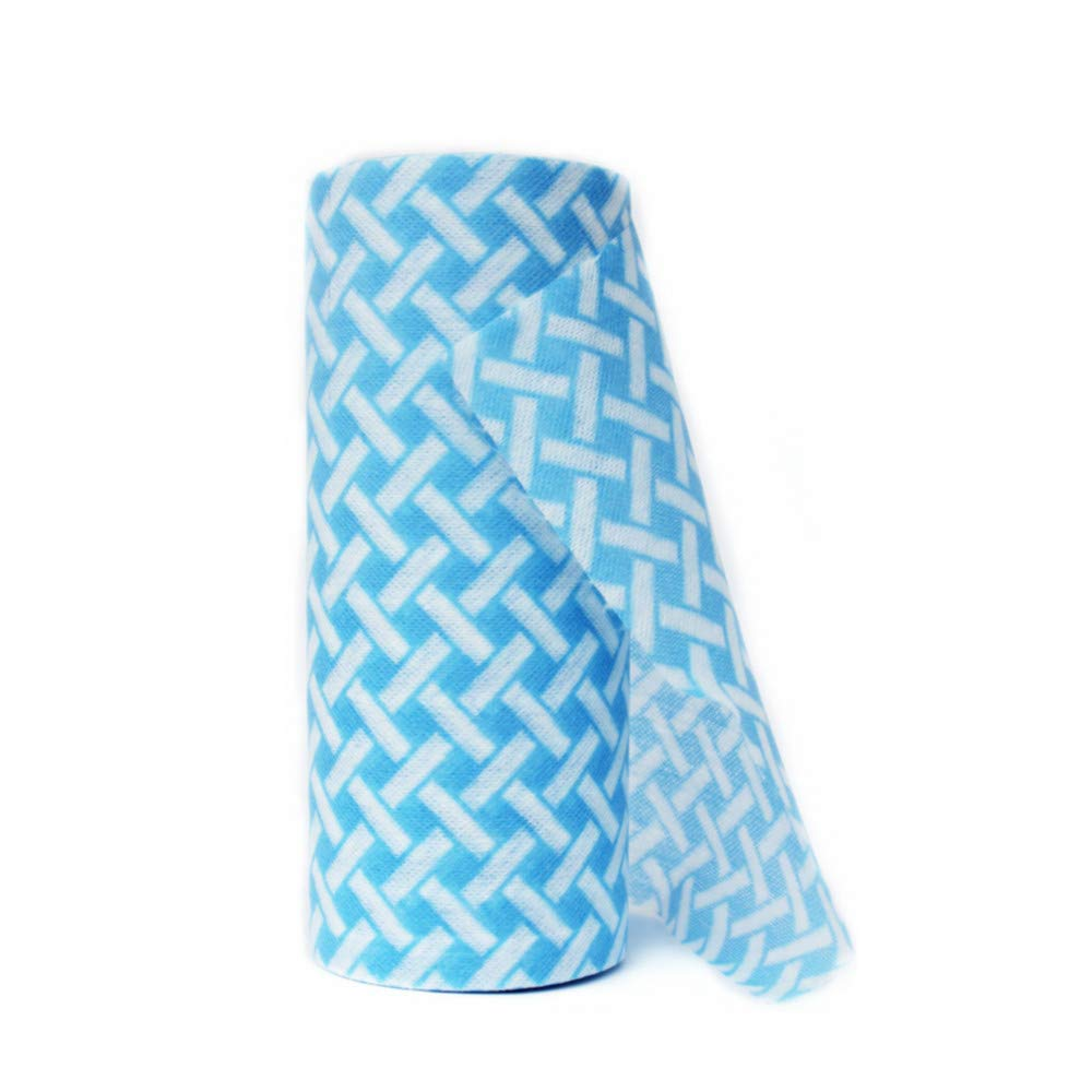 JEBBLAS Disposable Cleaning Towels Dish Towels and Dish Cloths Reusable Towels,Thick Handy Cleaning Wipes 90 Count/Roll,Blue by Jebblas