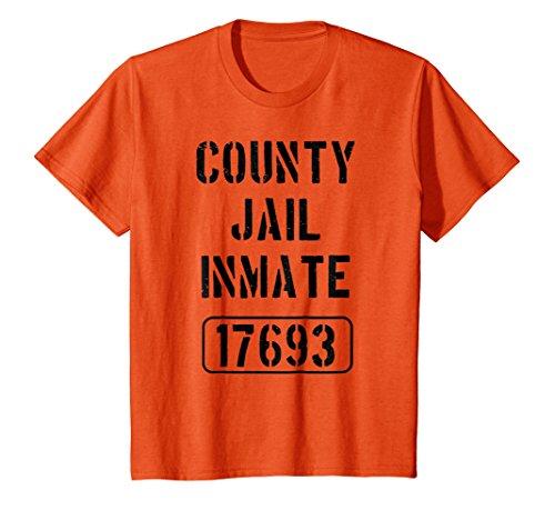Kids Prisoner Costume Tshirt | County Jail Inmate